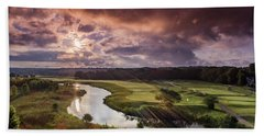 Sunrise At The Course Hand Towel