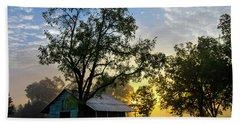 Sunrise At The Farm Hand Towel by George Randy Bass