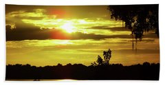 Sunrise At The Lake Bath Towel by D Hackett