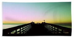 Sunrise At The Myrtle Beach State Park Pier In South Carolina Us Hand Towel