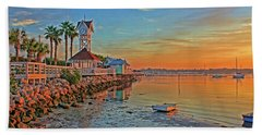 Sunrise At The Pier Bath Towel