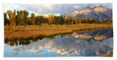 Sunrise On The Grand Tetons Hand Towel