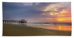 Sunrise At Tybee Island Pier Bath Towel