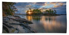 Sunrise At Wolfe's Neck Woods Bath Towel by Rick Berk
