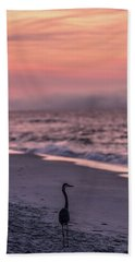 Bath Towel featuring the photograph Sunrise Beach And Bird by John McGraw