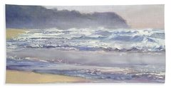 Bath Towel featuring the painting Sunrise Beach Sunshine Coast Queensland Australia by Chris Hobel