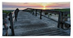 Sunrise Boardwalk, Cranes Beach Bath Towel