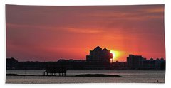 Sunrise Circles The Water Tower Hand Towel by Robert Banach