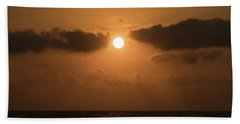 Sunrise Cloud Break Delray Beach Florida Hand Towel