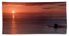 Sunrise Bath Towel by David  Hollingworth
