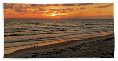 Bath Towel featuring the photograph Sunrise Daytona by Paul Mashburn