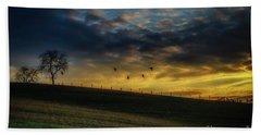Sunrise Flight Bath Towel by Thomas R Fletcher