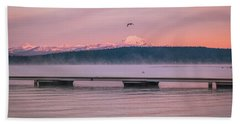Hand Towel featuring the photograph Sunrise Fog by Jan Davies