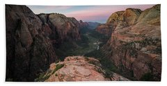 Sunrise From Angels Landing Bath Towel
