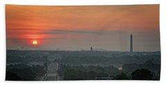 Sunrise From The Arlington House Hand Towel