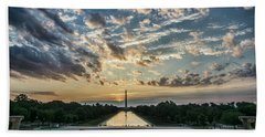 Sunrise From The Steps Of The Lincoln Memorial In Washington, Dc  Hand Towel