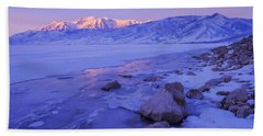 Sunrise Ice Reflection Bath Towel