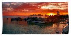 Sunrise In Cancun Hand Towel