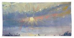 Sunrise In Egey Sea Greece Hand Towel