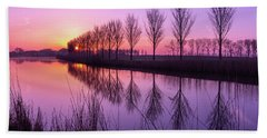 Sunrise In Holland Bath Towel