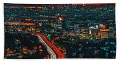 Sunrise In Hollywood Hand Towel by Art K