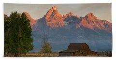 Sunrise In Jackson Hole Bath Towel by Steve Stuller