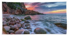 Sunrise In Monument Cove Bath Towel by Rick Berk
