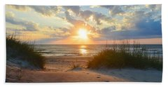 Sunrise In South Nags Head Hand Towel