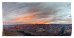 Sunrise In The Canyon Bath Towel by Jon Glaser