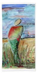 Sunrise In The Grasses Bath Towel