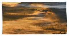 Sunrise In The Valley Bath Towel