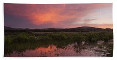 Sunrise In The Wichita Mountains Hand Towel
