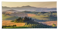 Sunrise In Tuscany Bath Towel by JR Photography