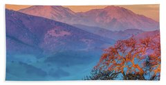Sunrise Light On Mt. Diablo Hand Towel by Marc Crumpler