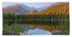 Sunrise On Bear Lake Rocky Mtns Bath Towel