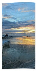 Sunrise On Ice Hand Towel by Greta Larson Photography
