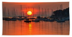 Sunrise On Salem Harbor Salem Ma Hand Towel