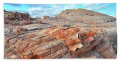 Sunrise On Sandstone In Valley Of Fire Hand Towel by Ray Mathis