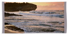 Sunrise On Shipwreck Beach Bath Towel by Marie Hicks