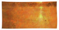 Sunrise On The Bay Hand Towel by Scott Cameron