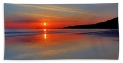 Sunrise On The Coast Hand Towel by Roy McPeak