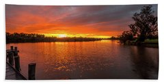 Sunrise On The Collie River Bath Towel