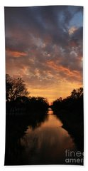 Sunrise On The Illinois Michigan Canal Hand Towel