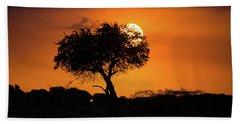 Sunrise On The Mara Bath Towel