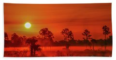 Sunrise On The Marsh Bath Towel