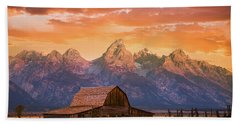 Bath Towel featuring the photograph Sunrise On The Ranch by Darren White