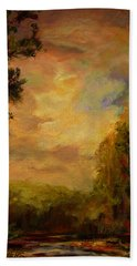 Sunrise On The River Hand Towel