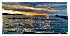 Sunrise On The Rocks Bath Towel