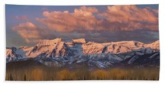 Sunrise On Timpanogos Bath Towel