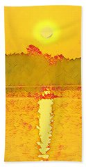 Sunrise On Town Lake Hand Towel